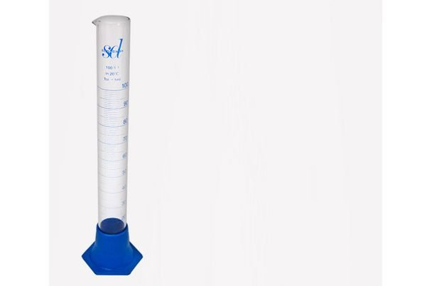 Üveg mérőcső 100 ml